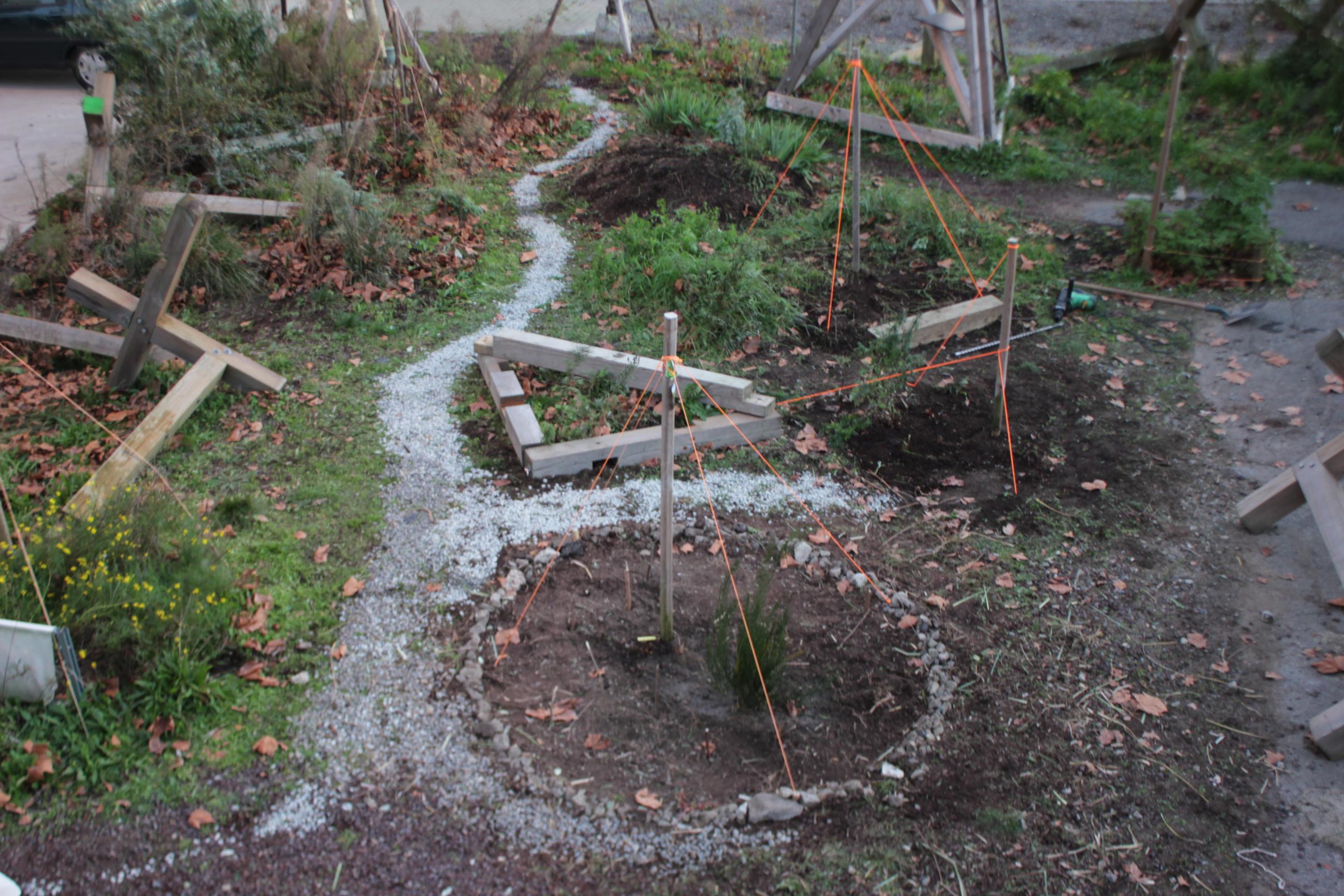 Mire chantier d hiver au jardin c for Jardin hiver plantation